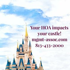 Your HOA Impacts Your Castle! Management and Associates has been serving Tampa Bay for more than 30 years. We are experts at what it takes to stay compliant and keep your homeowners happy. Call us today for a consultation 813-433-2000. http://mgmt-assoc.com   #meetyourneighbor #smalltown #qualityservice #TampaBay #Florida #Tampa #HOA #oldsmar #compliant #homeowners #happy #free #consultation