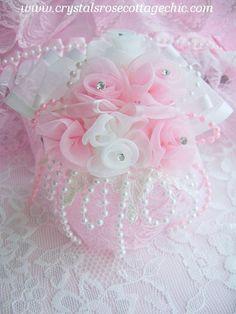 http://www.crystalsrosecottagechic.comRomantique Rose Bouquet ornament