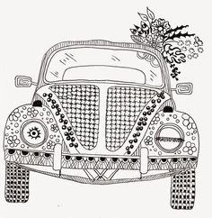 Efie goes Zentangle: ben kwok volkswagen