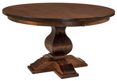 Love this website for custom handmade solid wood pedestal tables with leaves.
