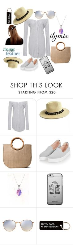 """""""ilymix...sun hat"""" by tanyabhuinya ❤ liked on Polyvore featuring Topshop, Ray-Ban and Various Projects"""