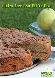 Gluten-Free Pear Coffee Cake #vegan