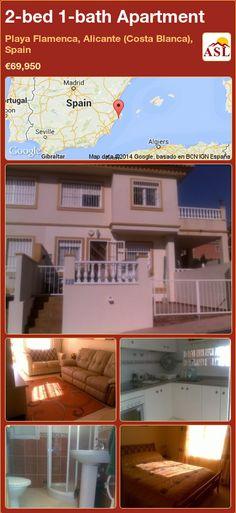 2-bed 1-bath Apartment in Playa Flamenca, Alicante (Costa Blanca), Spain ►€69,950 #PropertyForSaleInSpain