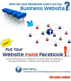 Click to see our own business website right inside the Facebook application!  This strategy we use for our own company should be used for yours, too!