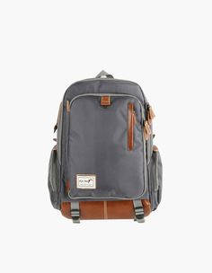 Leather Mix Unisex Backpack Mens School Bookbag Canvas In Gray vovo vovobag