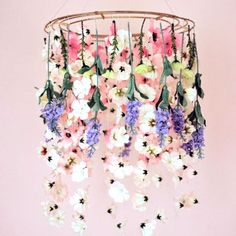 Need some spring decor inspiration? Check out how to make this floral chandelier and two more DIYs for the season!