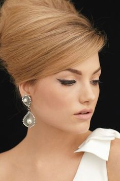 Bridal makeup. - sixties makeup - wedding makeup - bridal makeup - brides of adelaide magazine