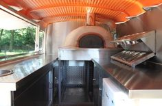 inside pizza van