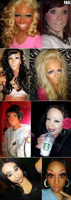 Epic Make-up Fails