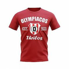 UKSoccershop Olympiacos Established Football T-Shirt (Red)