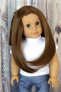 Dolls DIY Deep Curly Wig Heat Resistant Hair for 18inch Dolls #4