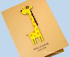 baby card - giraffe from create a critter