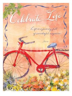 Celebrate, Life is a Journey Giclee Print by Flavia Weedn at Art.com