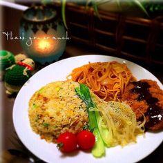 takechan82's dish photo トルコライスまぁ エース級を揃えた大人のお子様ランチ 大人様ランチでございやすっ | http://snapdish.co #SnapDish