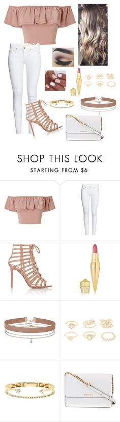 """""""Untitled #288"""" by lovepink5247 ❤ liked on Polyvore featuring Miss Selfridge, Gianvito Rossi, Christian Louboutin, Charlotte Russe, Delfina Delettrez and Michael Kors"""
