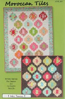 Moroccan Tiles Quilt Pattern from Anka's Treasures