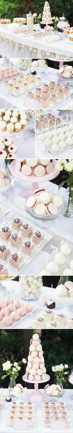 Café & Events in Hamburg |   Candy Buffet in Rosé & Creme