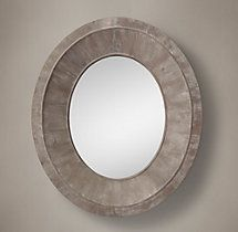 Salvaged Oval Pieced Mirror Natural rh 2 sizes L or XL...living or dining room