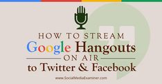 Are you using Google Hangouts on Air?  Do you want your Twitter and Facebook followers to join in?  By sharing the YouTube link of your Google Hangout to Twitter and Facebook, you can stream the live event to reach more viewers.  In this article you'll discover how to stream your next Google Hangout On Air to your Facebook and Twitter followers.