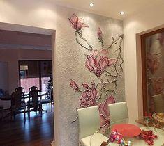Цветы на кухне - Изобразительное искусство - Рисование нестандартными материалами. (Песок, мука, зерно и др.)