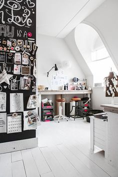 creative space that chalkboard pin wall! @thedailybasics ♥♥♥
