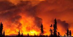 Funny River Fire near Soldotna Alaska
