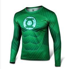 Green Lantern Marvel Comics Sport fitness gym T shirt for Men