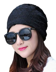 5beca467c08 Lujuny Summer Flower Lace Beanie Caps - Women Skull Tuque Hats Cancer Chemo  Patients