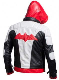 Batman Arkham Knight Red Hood Hooded Jacket at Amazon Men's Clothing store: