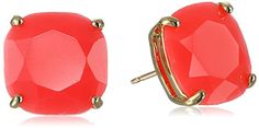kate spade new york Small Square Stud Earrings. Faceted stud earrings in four-prong settings. Post with friction backings. Imported.