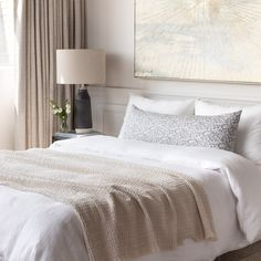 This large lumbar pillow features a block print style botanical motif in shades of grey. Swirling floral vines layered on an earthy background creates a transitional look that is both pretty and casual with a slightly exotic flair that will look beautiful paired with soft greys or mixed with other blue tones.How to use it: We created these large bolsters to work perfectly on beds - especially Queens and Kings. Lumbar Pillow, Bed Pillows, Kitchen Banquette, Entry Bench, Simple Bed, Large Sofa, Perfect Pillow, Getting Cozy, Shades Of Grey