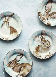 bunny easter plates #decorations