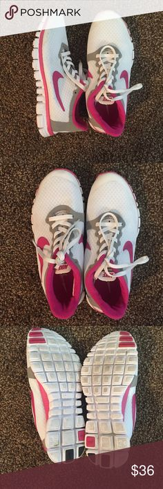 Womens Nike free 3.0 Good condition wore twice still very clean. Has tiny spot on left shoe Nike Shoes Athletic Shoes