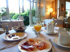 """Prima colazione di """"Grand Hotel Villa Castagnola"""", Lugano Ticino Swiss"""