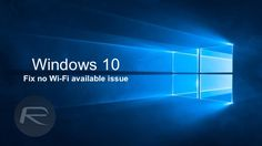 Windows 10 wifi fix main