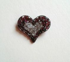 Srdíčko  brož Heart Ring, Rings, Jewelry, Jewlery, Jewerly, Ring, Schmuck, Heart Rings, Jewelry Rings