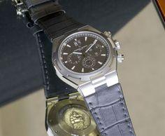 Vacheron Constantin Overseas Steel and Titanium - Monochrome Watches Luxury Watches, Rolex Watches, Watches For Men, Monochrome Watches, Vacheron Constantin, Silver Pocket Watch, Iwc, Patek Philippe, Fashion Watches