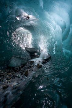 Juan's Cave - glacier cave beneath Patagonia's Viedma Glacier, Parque Nacional Los Glaciares.