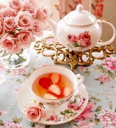 I love tea infused with strawberry.