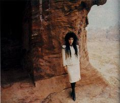 """Patricia Morrison on the desert video shoot for """"Dominion""""  Sisters of Mercy"""