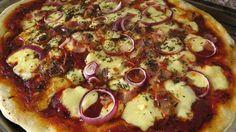 Pizza preparada con masa de fermentación lenta.