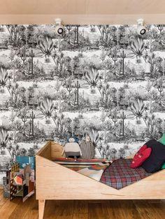 Barbizon: at Charlotte Huguet's | MilK  #childrensroom #bedoom #kids #wallpaper #palmtrees