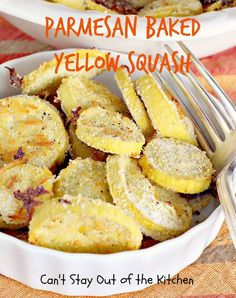 """Parmesan Baked Yellow Squash 