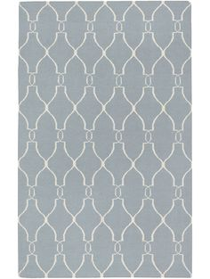 Jill Rosenwald Hourglass Rug, Blue-Grey