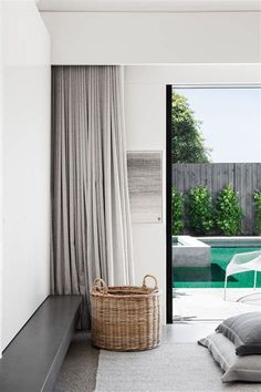 Room Decor: 60 Ideas and Designs for You to Be Inspired - Home Fashion Trend Modern Interior Design, Interior Architecture, Ceiling Curtains, Bedroom Curtains With Blinds, Wave Curtains, European Style Homes, Curtain Designs, Curtain Ideas, Modern Curtains