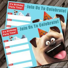 FREE Secret Life of Pets printable invitation
