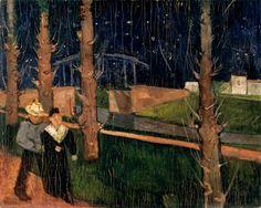 Felix Nussbaum - Couple Under The Cypress Trees (1929)