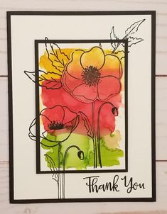 Scrapbooking, Scrapbook Cards, Penny Black, Poppy Cards, Stamping Up Cards, Cards For Friends, Watercolor Cards, Cool Cards, Flower Cards