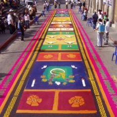 Carpet for Holy Week in Guatemala!