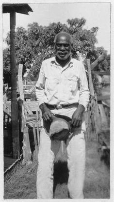 Sam Jones Washington , 88, was born a slave to Mr. Sam Young , who owned a small farm and a ranch along the Colorado River, in Wharton Co., Tex. Mr. Young also owned Sam's mother with six children and one other negress with four children. Sam was trained and used as a cowhand, before and after his Emancipation, until the ranch was sold. Then he farmed until 1905, when he came to Ft. Worth and entered the packing industry as a cattlehand. . He now resides at 3520 Columbus Ave., N., Ft. Worth